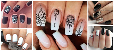 manicura-esmalte-negro-blanco