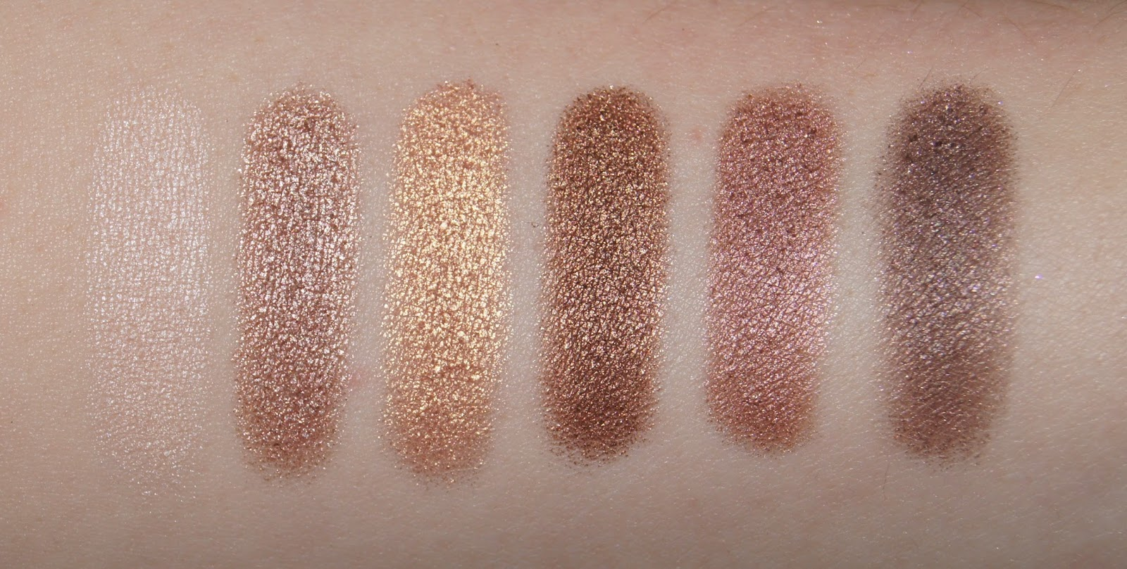 collection eyes uncovered nude bronze eyeshadow palette swatches ivory mink ochre golden brown ember nutty