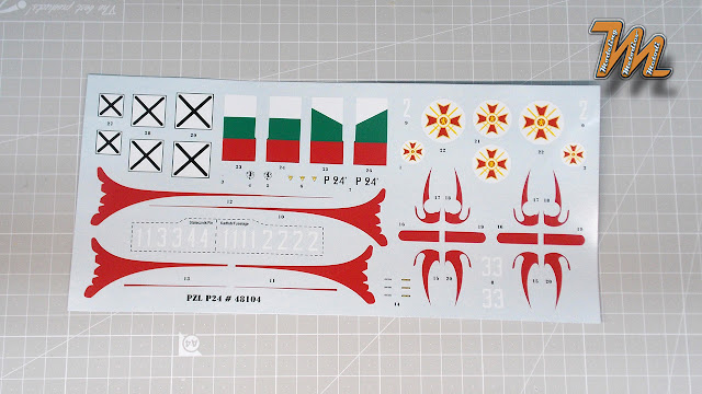 "PZL P.24 B ""Jastreb"", Mirage Hobby 1/48 scale model kit Nr. 48104 - inbox review"