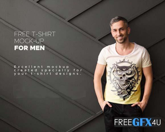T-Shirt  PSD Mockup For Men