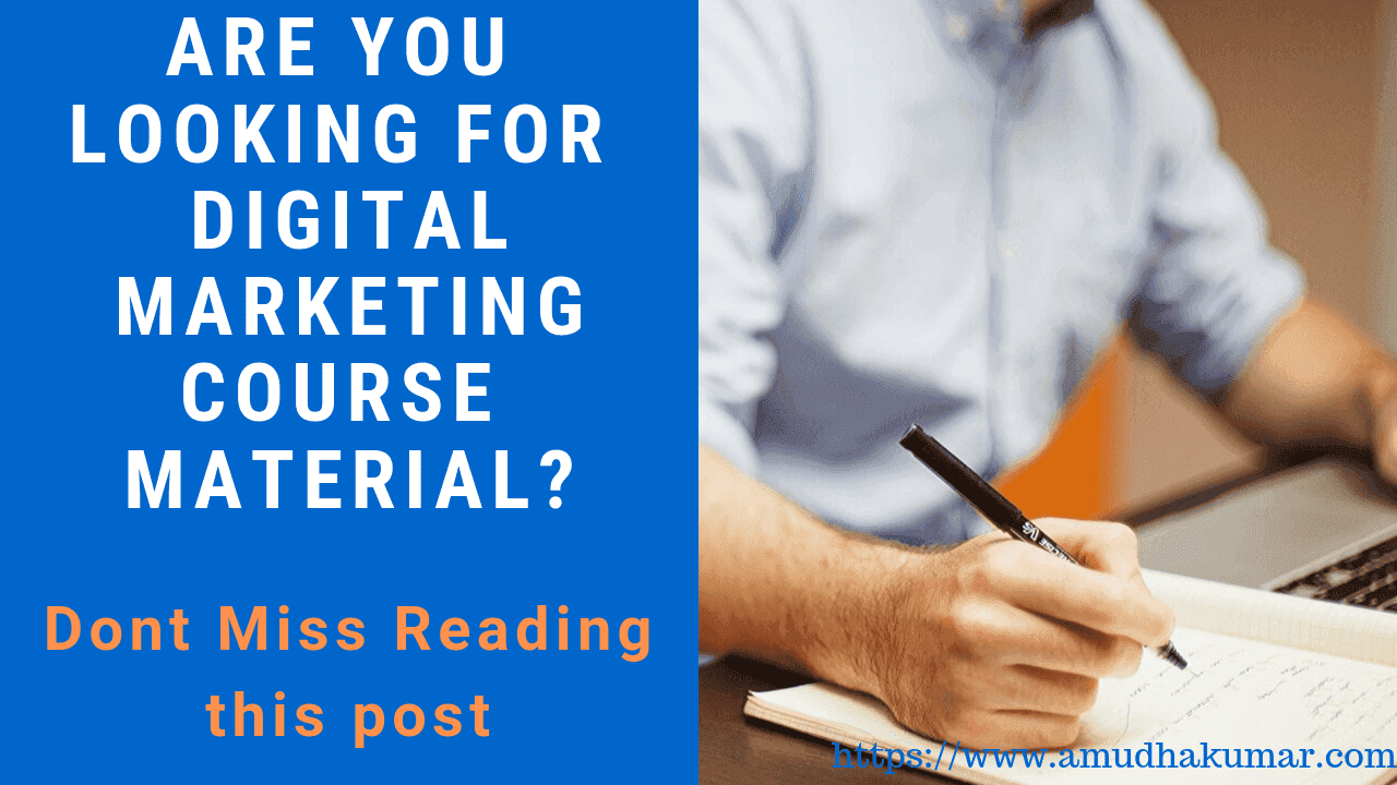 Do You Need Digital Marketing Course Study Material for Free? Don't Miss This Article