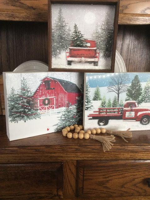 Christmas Gift Bag Wall Art