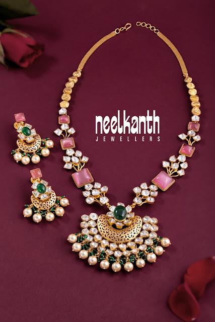 Polki Diamond Set by Neelkanth Jewellers