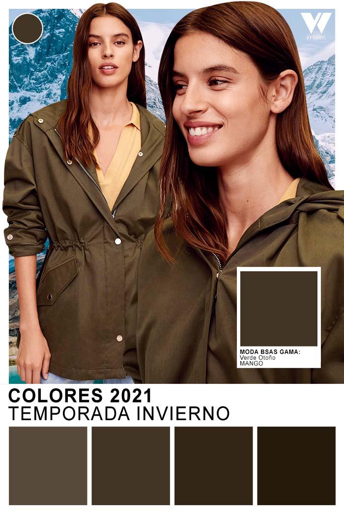 Verde oliva colores de moda otoño invierno 2021