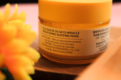 review somebymi yuja niacin sleeping mask