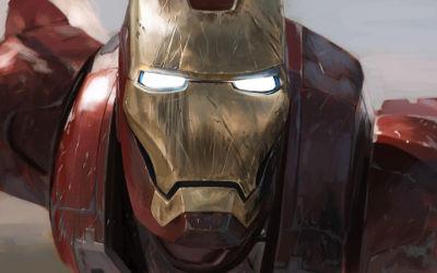 Iron Man Gros Plan Artwork - Fond d'écran en Ultra HD 4K 2160p