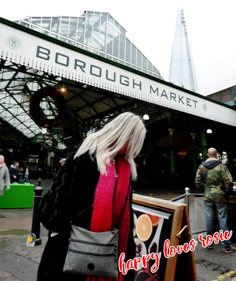happy harris at Borough Market