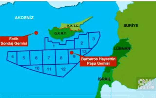 CNN Turk: Το τουρκικό ΥΠΕΞ έδειξε σε ξένους διπλωμάτες χάρτη για γεωτρήσεις στην Ανατ. Μεσόγειο