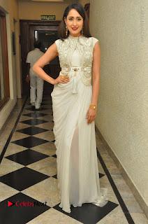 Actress Pragya Jaiswal Stills in Beautiful White Dress at turodu Audio Launch  0043.JPG