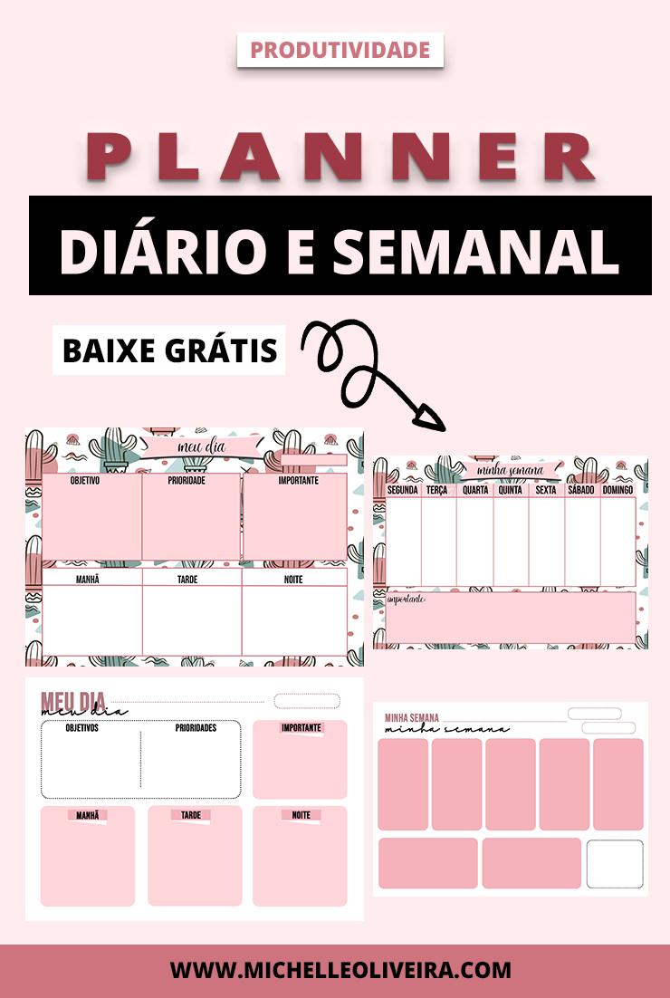 PLANNER DIÁRIO E SEMANAL