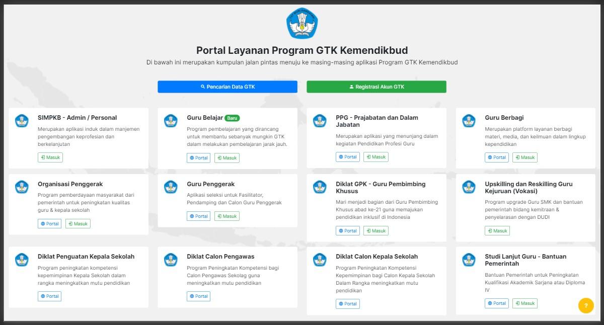Layanan SIMPKB Info GTK Kemdikbud