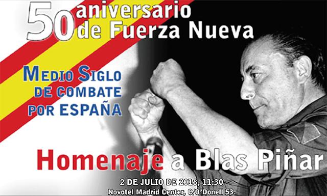 50 Aniversario de Fuerza Nueva, 2 de julio a las 11:30, Novotel Madrid Center, C/ O'Donell 53 (MADRID)