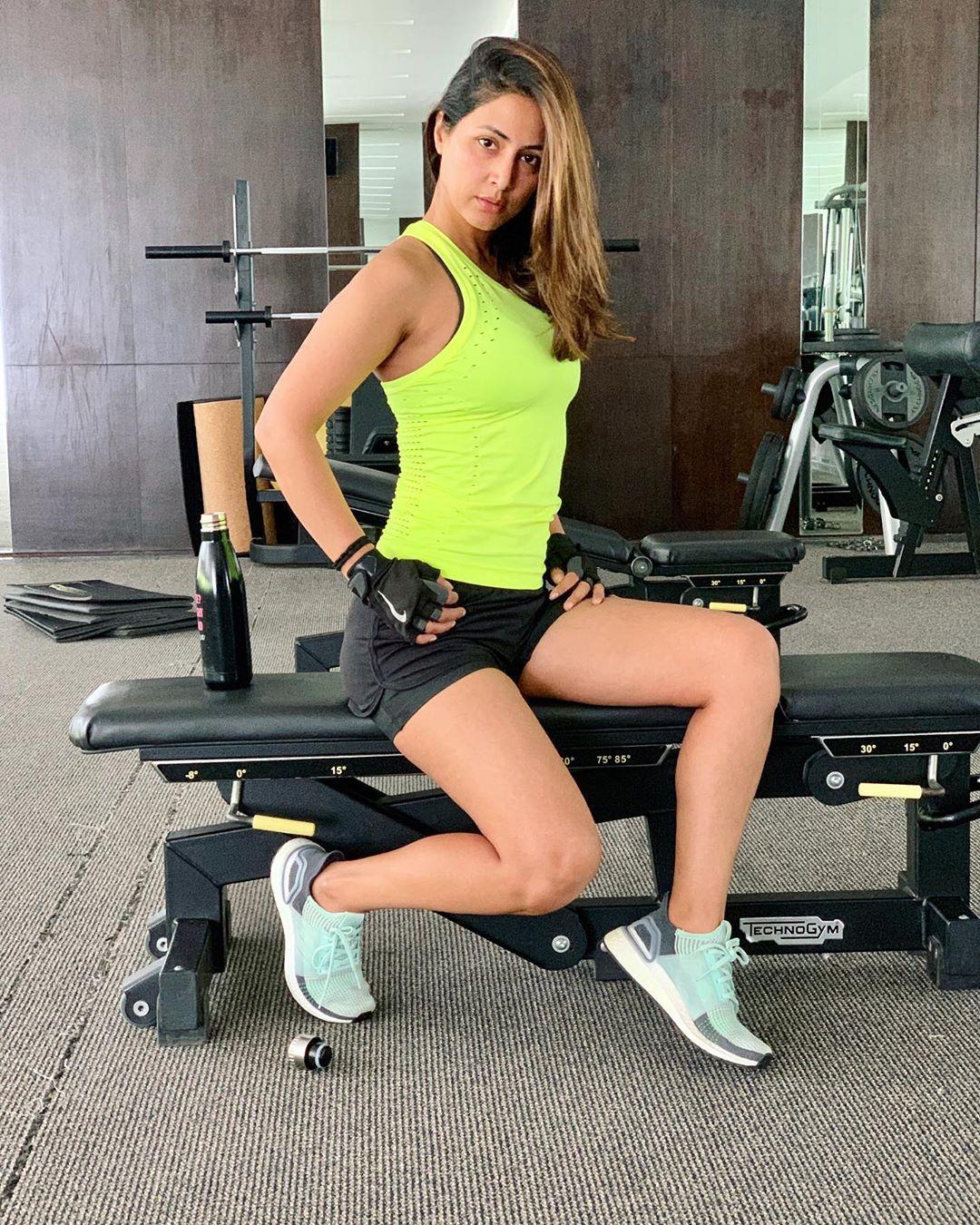 hina khan gym photos