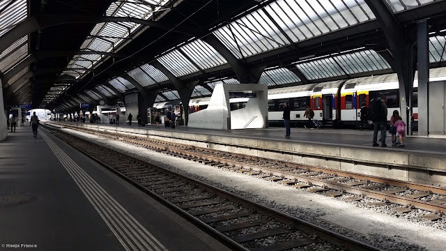 Train station in Zurich, Switzerland