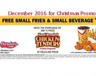 free Hardees coupons for december 2016