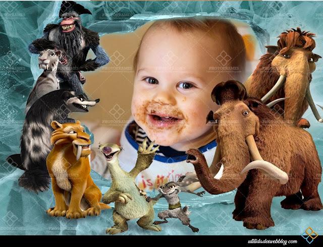 Lovely Ice Age Kids Photo Frame
