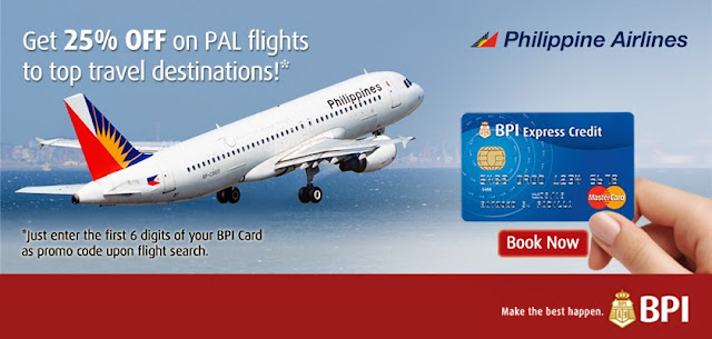 BPI Credit Card: Get 25% OFF on PAL flights to top travel destinations!