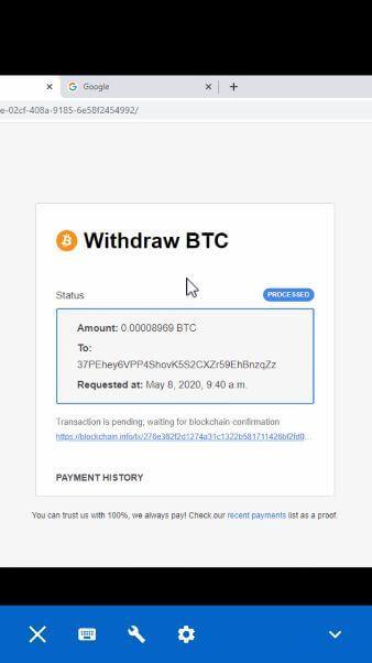 Withdraw cryptotab sangat mudah