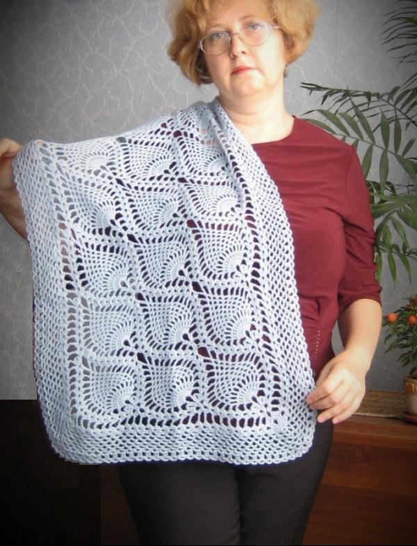 Pineapple Crochet Wrap - Beautiful