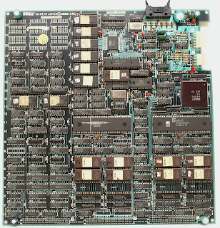 Imagen de la placa de la recreativa OutRun (Sega Outrun, 1986)