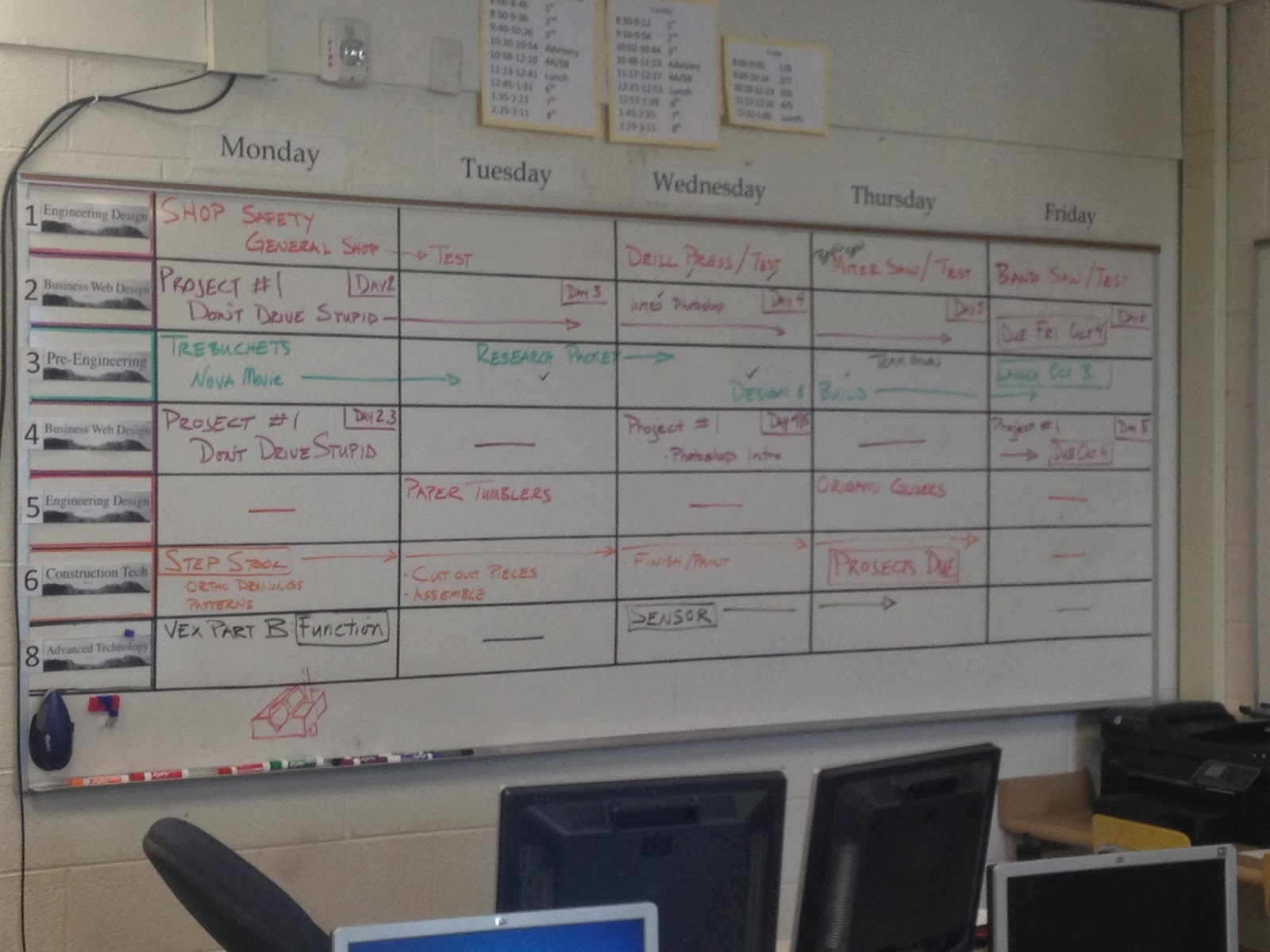 Bronco Technology   Engineering  Whiteboard Schedule September 23 27 Whiteboard Schedule September 23 27