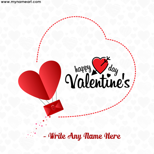 Write Your Name on Happy Valentine's Images,Greeting Cards Online