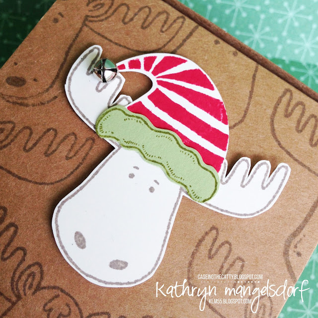 Stampin' Up! Jolly Friends & Jolly Hat Christmas Gift Box created by Kathryn Mangelsdorf