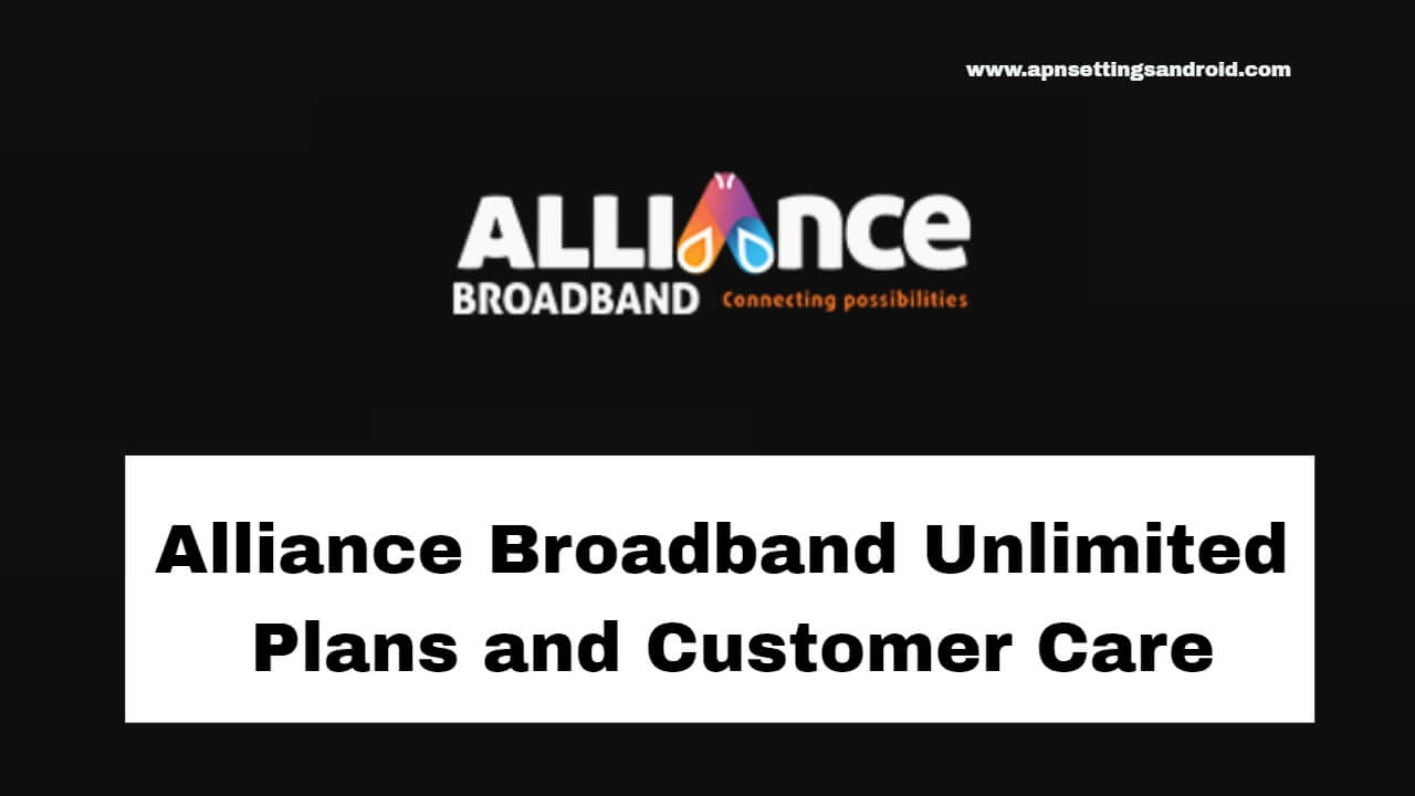 Alliance Broadband Unlimited Plans
