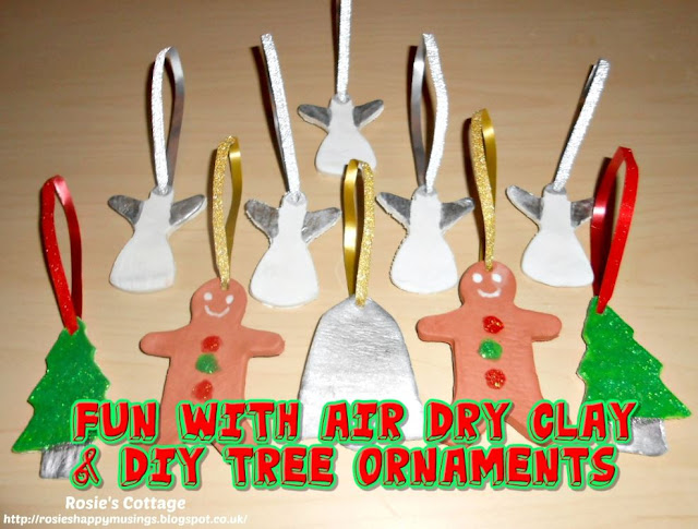 Fun with air dry clay and DIY tree ornaments...