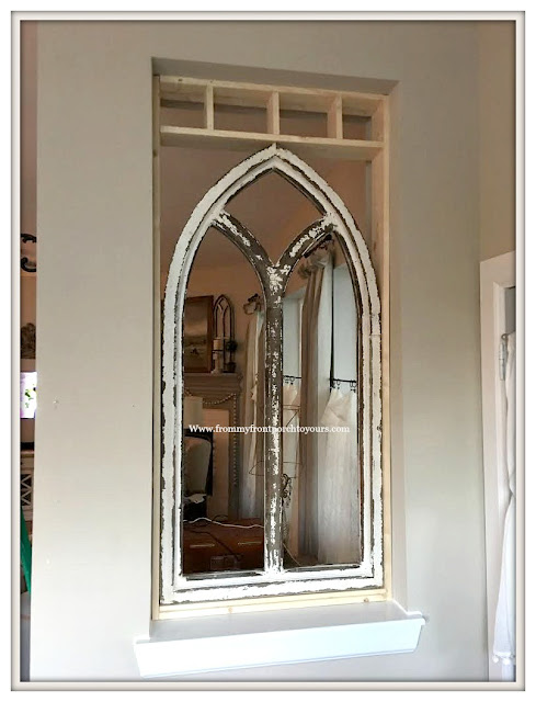 DIY-Faux Cathedral Arch Window-French Farmhouse-Cottage Style-Farmhouse Style-French Country- From My Front Porch To Yours