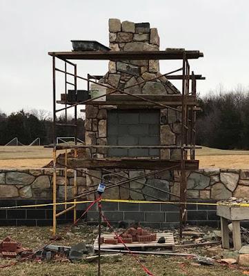 Wyant stone on chimney in Rockingham Co, VA https://jollettetc.blogspot.com
