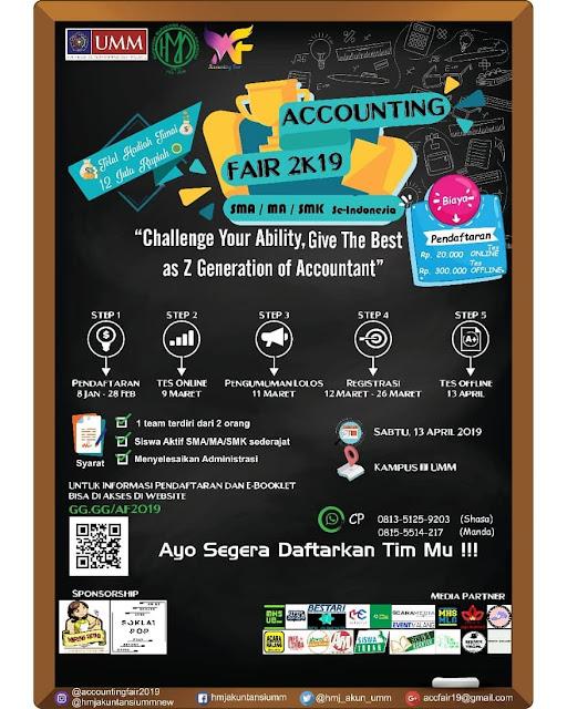 Lomba Accounting Fair Nasional 2K19 SMA Sederajat