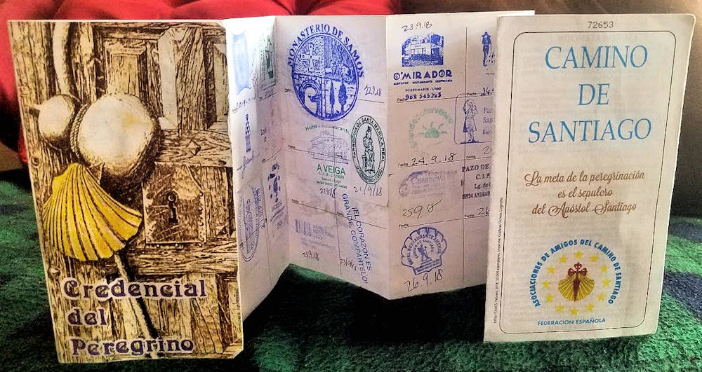 To qualify for your Compostela Certificate at the end of the Camino de Santiago, be sure to have your pilgrim credential aka Pilgrim's Passport stamped at least once a day until you reach Sarria, then twice a day until you arrive at Santiago de Compostela.