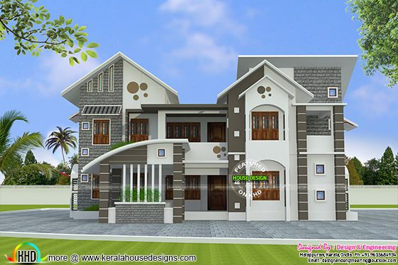 Mixed roof house