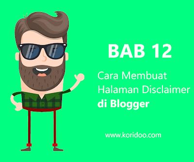 Cara Membuat Halaman Disclaimer di Blogger