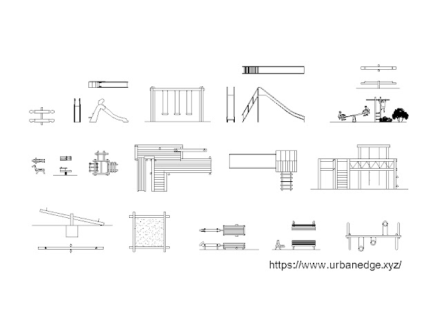 Playground cad block, 25+ Playground equipment cad blocks download