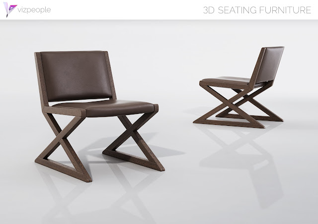 [3D Model Free] Seating Furniture set 4
