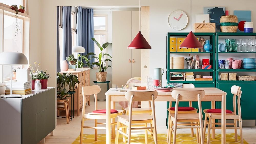 Comedor con mesa extensible de IKEA