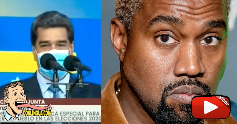 """Maduro sorprendido por el candidato rapero norteamericano """"Canye Gues"""""""