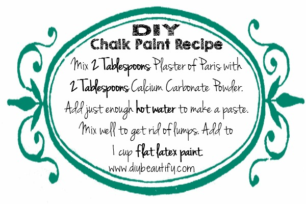 DIY chalky paint recipe | DIY beautify