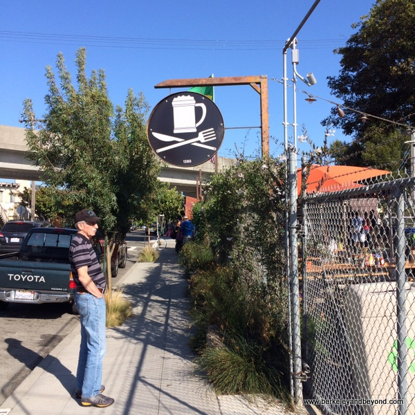entrance to Westbrae Biergarten in Berkeley, California