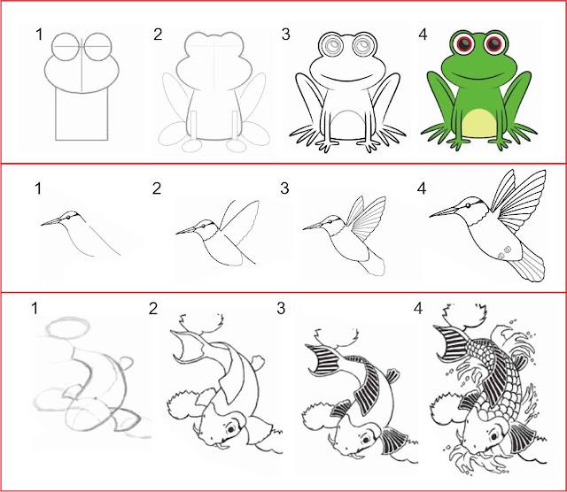 cara-menggambar-fauna