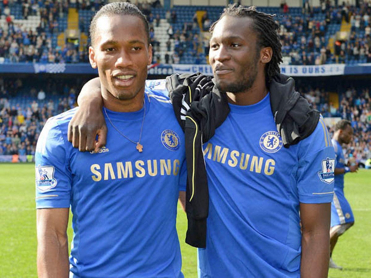 Didier Drogba and Romelu Lukaku