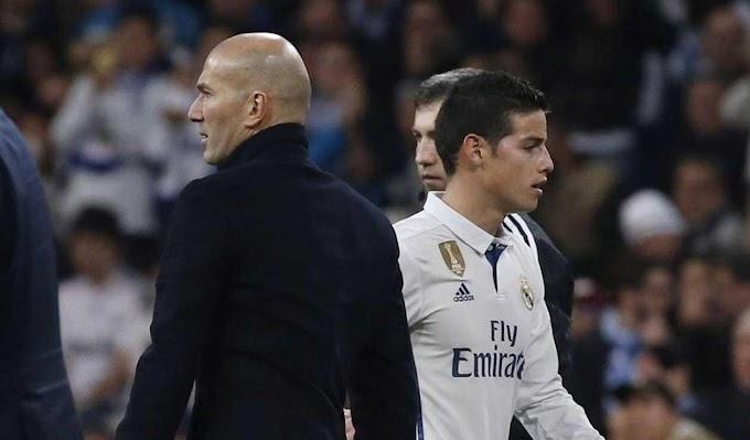 Zidane Rompió silencio y habló del futuro de James Rodriguez.
