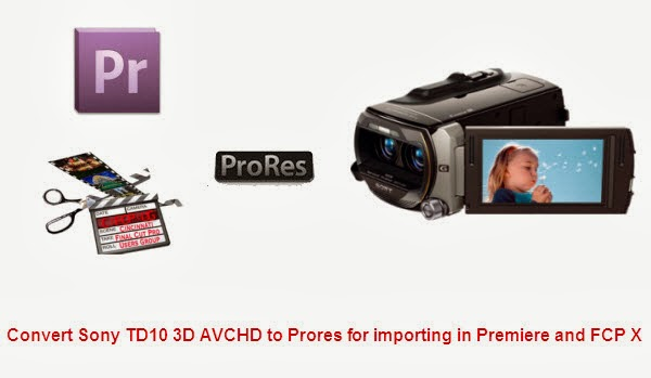 Fluid Workflow For Editing Sony HDR-TD10 3D mts/m2ts footage in