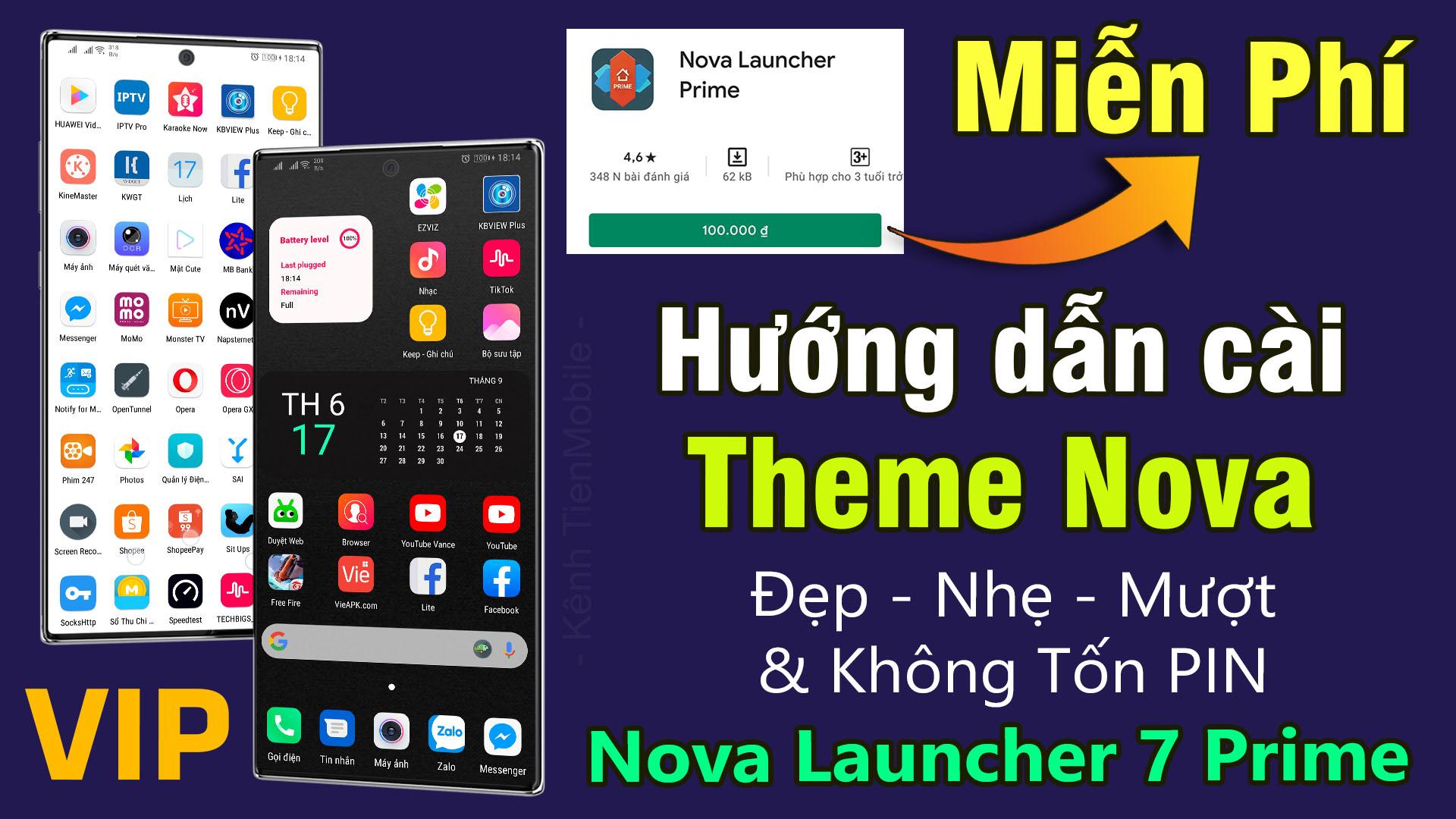 Bộ Setup Theme 04 (Nova Launcher 7 Prime) Giao diện đẹp, Mượt và Không tốn Pin cho Android