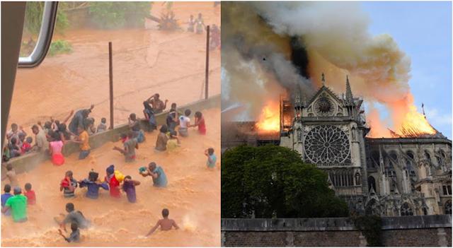 Doações para catedral de Notre-Dame superam para vítimas do ciclone Idai