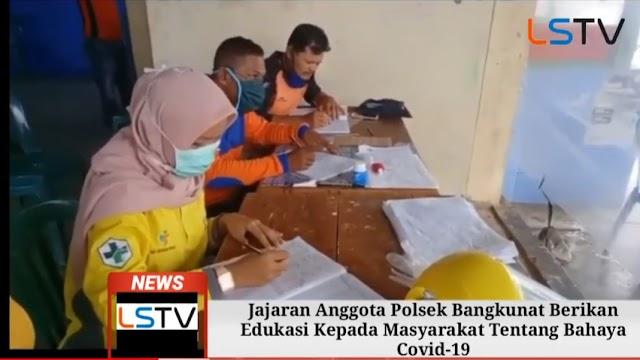 Polsek Bangkunat Siaga Covid -19, Dalam Rangka Ops Ketupat Krakatau 2020
