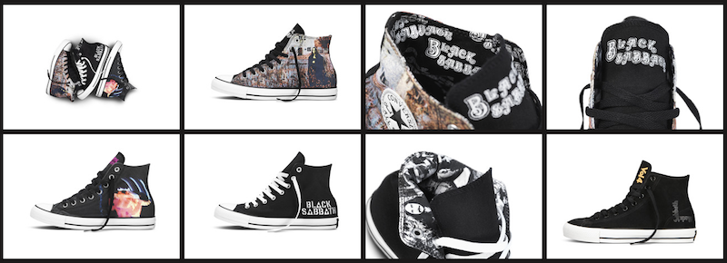 ca2a98e54294 CONVERSE Inc. has officially launched the Spring 2014 Converse Chuck Taylor  All Star Black Sabbath sneaker collection featuring five new styles  inspired by ...