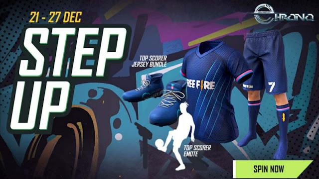 Step Up Top Scorer Jersey Bundle Free Fire New Event